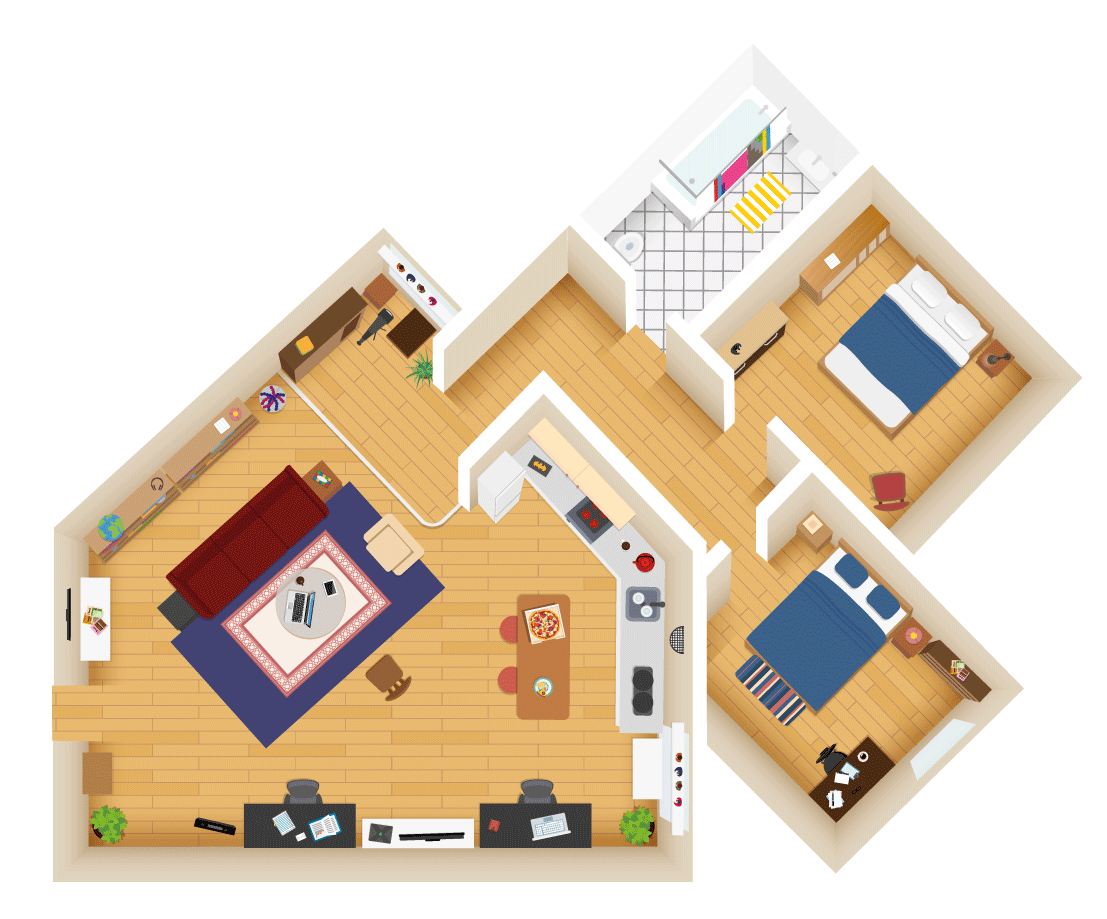 Big Bang Theory Contents Insurance Floor Plan