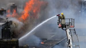 Fire damaged building - commercial claims management