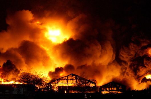 Hazel Products warehouse fire